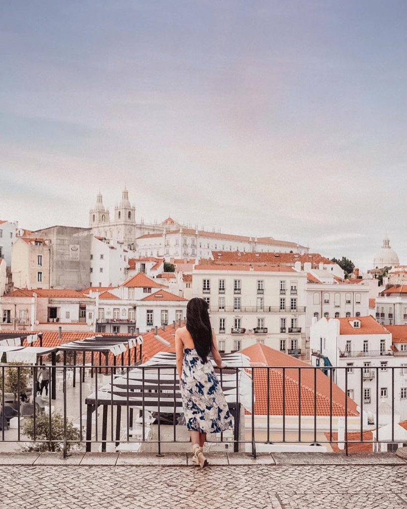 Most Instagrammable Places In Lisbon | Where To Take Photos In Lisbon | Portas do Sol Viewpoint | Warmrental