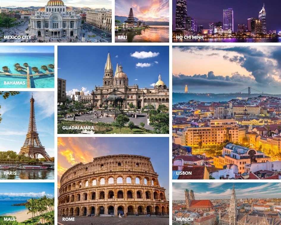 Top 10 Destinations For 2019